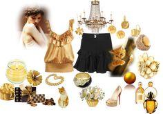 """""""golden beauty"""" by malathik ❤ liked on Polyvore"""