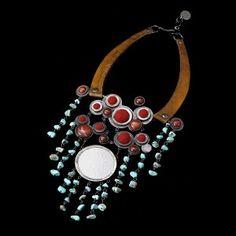 Wiśniowe Love - naszyjnik z turkusami od Sztuk Kilka