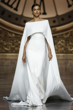 Gorgeous bridal cape: http://www.stylemepretty.com/2015/05/20/pronovias-barcelona-spring-2016-2/