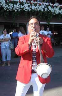Sam Grossman - NYRA Bugler at the Saratoga Race Track