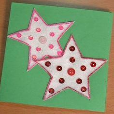 Manualidades de postales para hacer con los niños en Navidad. Tarjetas navideñas personalizadas. Postales de cartulina para Navidad. Cómo hacer postales de Navidad para niños con cartulina.