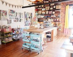 16 Inspiring Ideas for Organizing Your Craft Room via Brit + Co