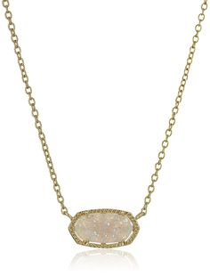 Kendra Scott 'Signature' Elisa Gold-Plated Iridescent Druzy Pendant Necklace * See this great product. (This is an affiliate link and I receive a commission for the sales)