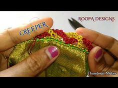 ideas for crochet heart bracelet ties Saree Tassels Designs, Saree Kuchu Designs, Rangoli Designs, Blouse Designs, Crochet Flower Tutorial, Crochet Instructions, Crochet Gloves, Crochet Shawl, Chrochet