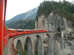 and i'll take in the view on a Swiss train