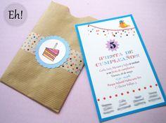 Washi Tape Birthday Kids Invitations / Invitaciones de cumpleaños infantil con washi tape  via Eh! Yo lo vi primero