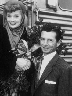 Lucille Ball with her brother Fred.
