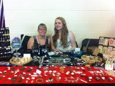 Me and my mum behind the Hidden Quirks Stall