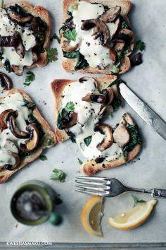 Mozarella Mushroom Toast