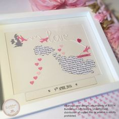 Heart map gift unique wedding gift custom map pink wedding details about heart map gift pink personalised wedding present word art framed unique couple gumiabroncs Choice Image