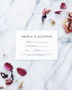 Marble & Milkweed | gift certificate
