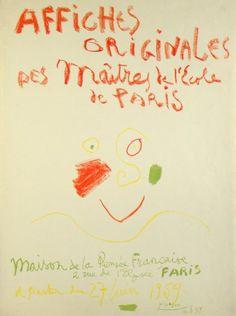 Original Künstlerplakat Picasso Original artist poster Picasso Affiche originale Picasso title Affiches original des Maitres de l'Ecole de Paris technology Original lithograph in 4 colors