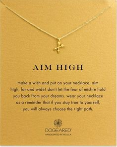 Aim High Crossing Arrows Necklace. Perfect gifts for her. Christmas gift ideas for teen girls.