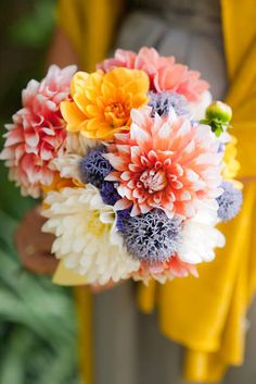 Summer wedding bouquet. F S Photography via Wedding Chicks #weddingflowers #summerbouquet