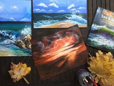 Sarah J. Loecker : Continuing Education- Seascapes Dave White, Vanishing Point, Artist Brush, Rule Of Thirds, Continuing Education, Book Reviews, Watercolor Illustration, House Painting, Acrylics
