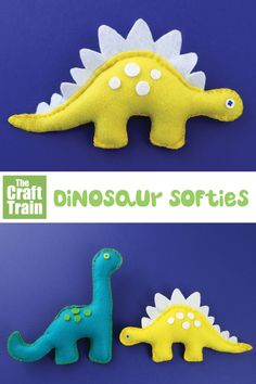 Wonderful Cost-Free cute Sewing gifts Popular Dinosaur softies -printable felt sewing patterns, a stegosaurus and a diplodocus Sewing Hacks, Sewing Tutorials, Sewing Crafts, Sewing Tips, Sewing Ideas, Sewing Basics, Softies, Dinosaur Crafts, Dinosaur Dinosaur