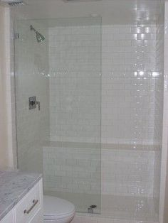 Single frameless shower panel - NO door