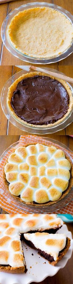 Smores on top of a Smores on top of a brownie pie no. Smores on top of a Smores on top of a brownie pie no Smores on top of a Smores on top of a brownie pie no campfire required! Yummy Treats, Sweet Treats, Yummy Food, Just Desserts, Dessert Recipes, Pie Dessert, Cake Recipes, Dessert Aux Fruits, Sallys Baking Addiction
