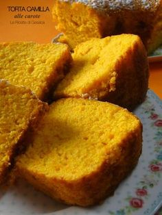 torta camilla carota bimby Dairy Free Recipes, Healthy Recipes, Plum Cake, Biscotti, Cornbread, Free Food, Camilla, Cookies, Breakfast