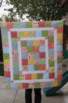 The Kelsie Baby Quilt from Rebel Perfection.