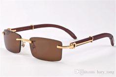 cfcccbd9da40 wooden feet mens rimless eyeglass frames High-end business optical frame  men eyeglasses gold silver color china eye glasses eyewear