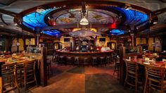 Calling all seafood lovers: Dine in a replica of an authentic 19th-century riverboat docked at Downtown Disney Pleasure Island! A wharf-side gem, Fulton's Crab House is noted for its 50 seafood selections, choice cuts of beef and award-winning wines.