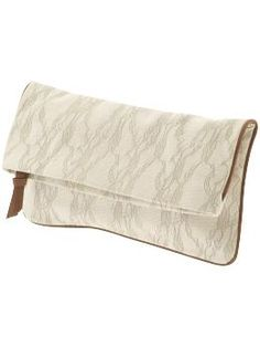WANT! (Bslaine Printed Lace Clutch by Steve Madden) ($48)