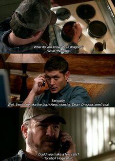 Dragons.  #supernatural