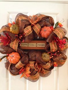 Fall Deco Mesh Wreath by BrightsWreaths on Etsy, $65.00