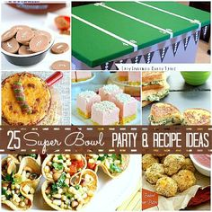 #25 Superbowl fabulous recipes and party ideas