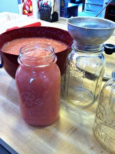 Home canned applesauce