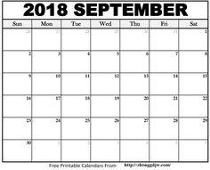 Free Printable Calendar Templates PDF Word Excel - Printable Calendar 2020 with Holidays - Printable Calendar Blank Templates, Editable Calendar & Holidays 2018 Printable Calendar, Free Printable Calendar Templates, Blank Calendar Template, Print Calendar, Printable Planner, Printables, September Calendar 2018, 2019 Calendar, Calendar Pages