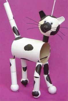 DIY-Kinderspielzeug: Puppen aus recycelten Materialien – Kinderspielzeug diy -… DIY children's toys: dolls made from recycled materials – children's toys diy – Kids Crafts, Craft Activities For Kids, Projects For Kids, Diy For Kids, Craft Projects, Creative Kids, Creative Crafts, Diy Jouet Pour Chat, Recycled Toys