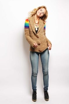 saco arcoiris camel — de las bolivianas