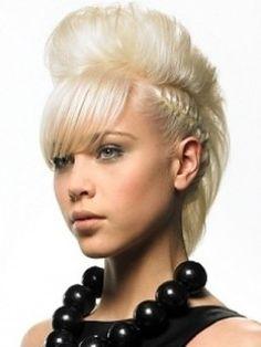 Rockabilly punk fauxhawk hairstyle