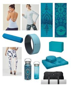 """""""Blue Yoga Wishlist"""" by kathleen-urick on Polyvore featuring yoga, Fabletics and gaiam"""