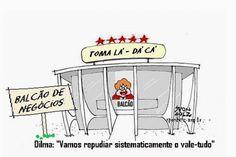 Dilma no balcão de negócios...