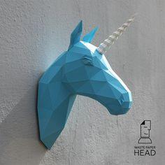 La tête de licorne-imprimé DIY kit/petite (code de produit 421)