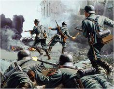 Art illustration - World War II