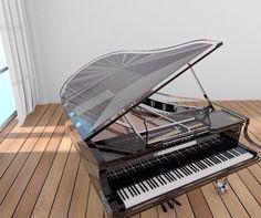 My fav black tinted glass #instarender #piano #baby #grand #design #render #thea #c4d #magic #interior #archviz by wengfai79