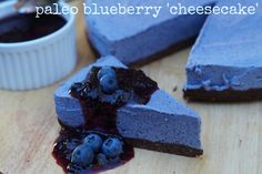 Paleo blueberry 'cheesecake'  Super dooper easy to make!   A paleo dessert EVERYONE will love!