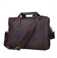 leather shoulder bag, leather briefcase, laptop bag (C1-4)