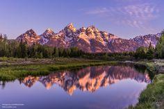 Sunrise Reflections Tetons National Park Wyoming USA. [OC][4000x26667]   landscape Nature Photos