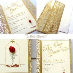 Amazing beauty and the beast wedding invitations More