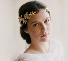Grecian crown bridal hair wedding crown by EricaElizabethDesign, $595.00