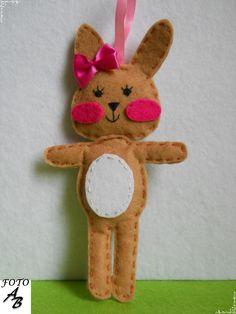 bunny girl felt / króliczek dziewczynka filc