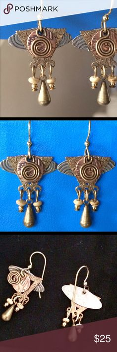Gypsy earrings! Very detailed with different color and shaped charms.  Perfect!! Jewelry Earrings