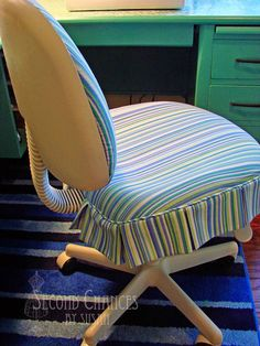 Office Chair Makeover - Second Chances by Susan: My Sewing Studio: Seating