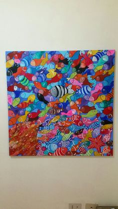 Arte Mare di colori  Acrilico su tela  100 100 www.danielaverduci.it