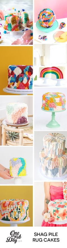 These inspired wedding cakes are so cool! Unique Wedding Cakes, Beautiful Wedding Cakes, Wedding Desserts, Unique Weddings, Elegant Wedding, Fall Wedding, Rustic Wedding, Cake Piping Techniques, Shag Pile Rugs